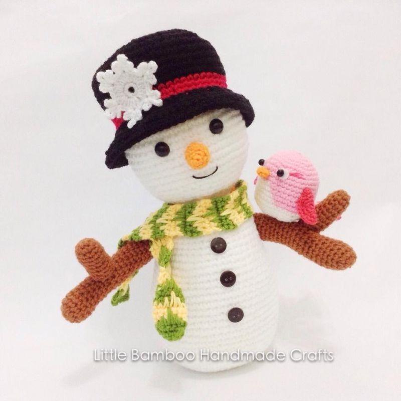 Snowman And Bird amigurumi pattern by Little Bamboo Handmade | Nieve ...