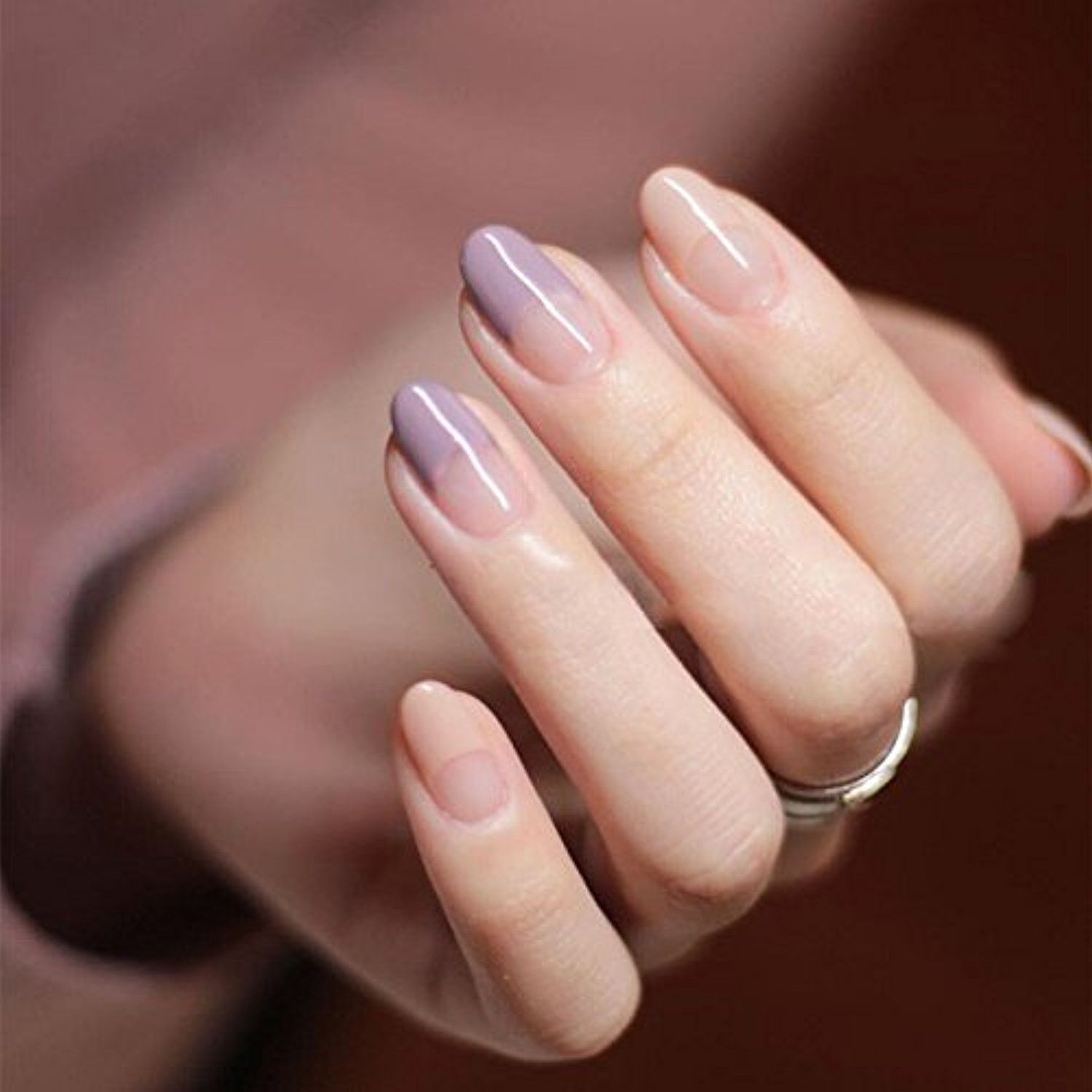 YUNAI Round Head Fake Nails for Women/Girl French Manicure All Match ...
