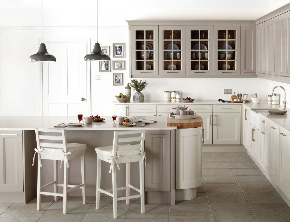 Mixing grey and cream bodbyn units google search for Kitchen ideas with grey cabinets