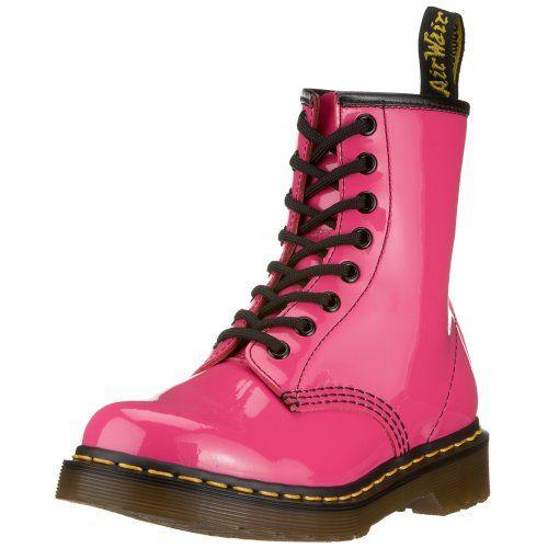 Dr Martens Women S 1460 Originals 8 Eye Lace Up Boot Hot Pink Patent Lamper 5 Uk 7 M Us Womens Dr Martens Http Combat Boots Style Pink Combat Boots Boots
