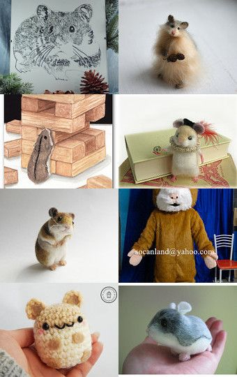 Great Hamsters on Etsy! by Milos Petrovic on Etsy--Pinned with TreasuryPin.com