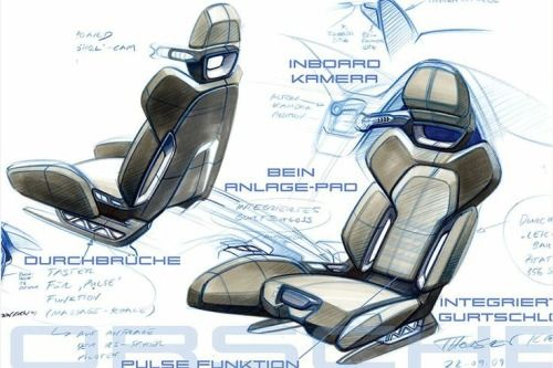 Car Seat Design Drawing Car Pinterest Interior Design Sketches