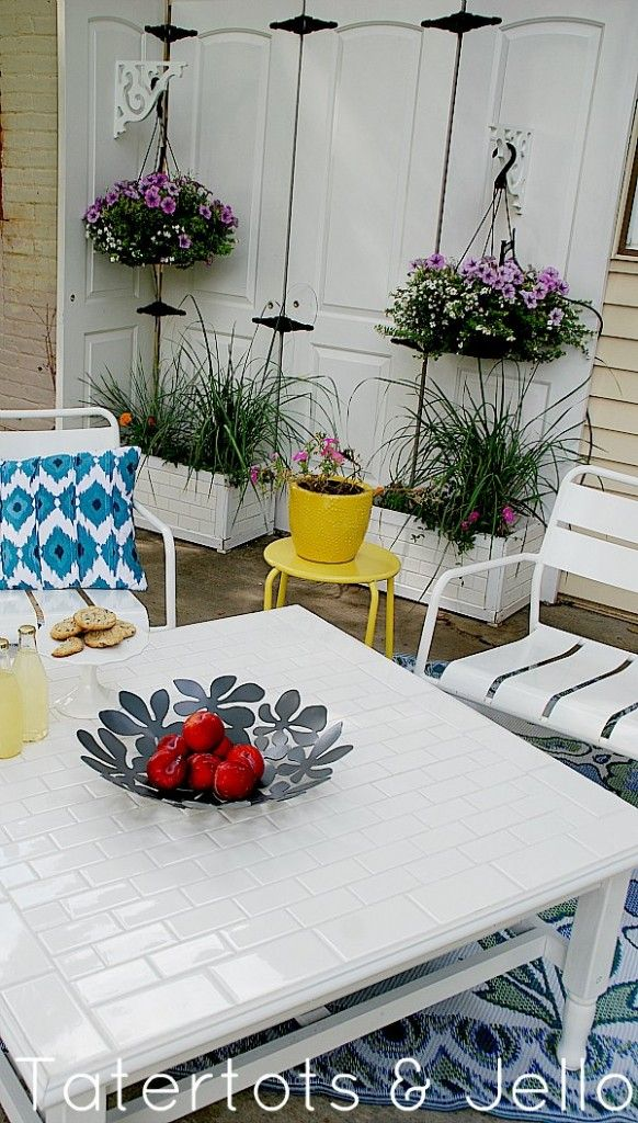 Subway Tile Table Makeover