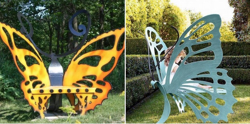 Butterfly Garden Bench Is Absolutely Stunning Fun Outdoors