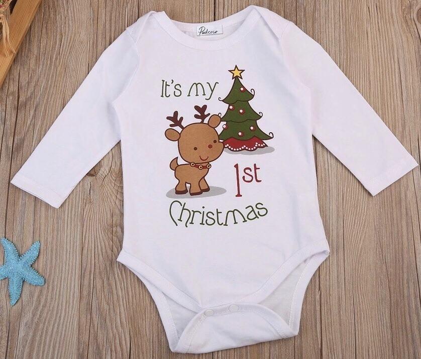 74d76166730df 1st Christmas Onesie. 1st Christmas Onesie Kids Christmas Outfits, 1st  Christmas, Christmas Onesie, Baby Boy Christmas