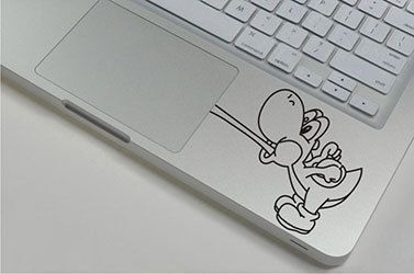 Yoshi Mario brothers laptop palm rest decal, MacBook, games, Apple, cool sticker by HipstersParadise101 on Etsy