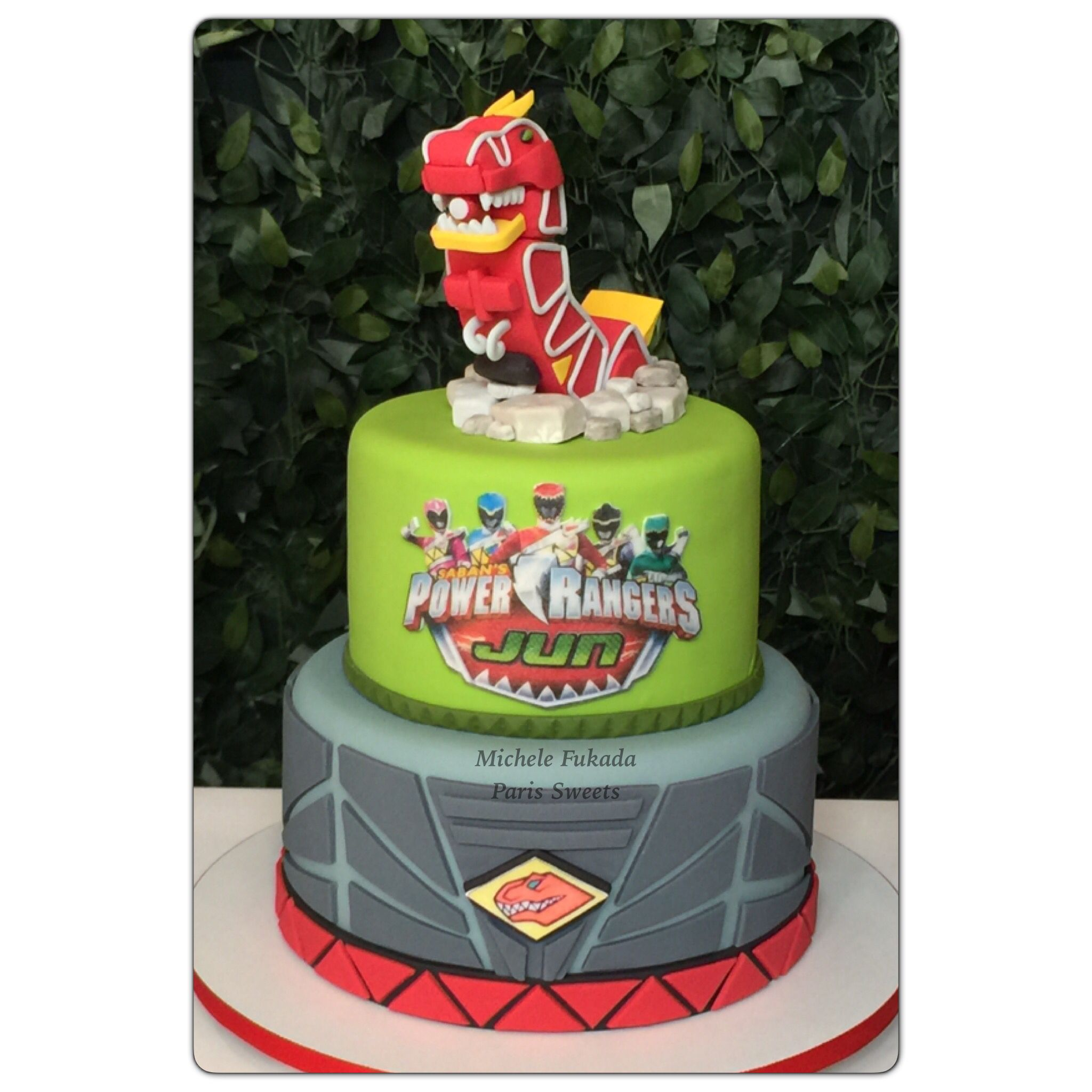 Power Rangers Dino Charges Party Cake bolo Birthday Pinterest