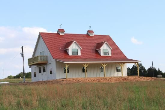 Pictures Of Pole Barn Homes Barn Home Horse