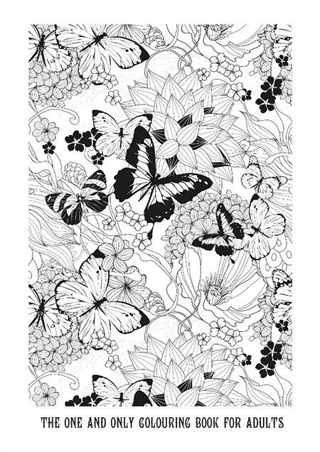 Free Adult Coloring Page Roundup Butterfly Coloring Page Free Adult Coloring Pages Coloring Pages