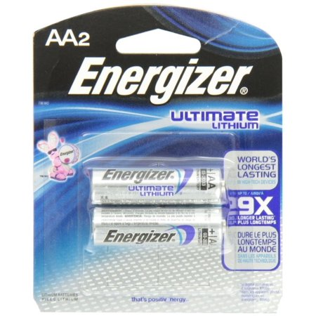 Energizer Ultimate Lithium Aa Batteries 2 Pack 2 Pack Quantity Walmart Com Lithium Battery Energizer Energizer Battery