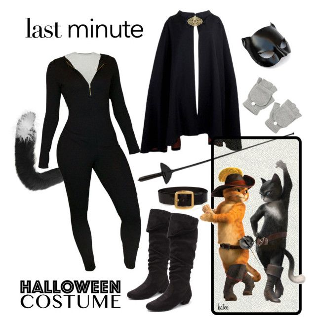 """"" Kitty "" from Puss & Boots"" by kateo ❤ liked on Polyvore featuring MM6 Maison Margiela, Yves Saint Laurent, Pierre Cardin, Masquerade, halloweencostume and 6117"