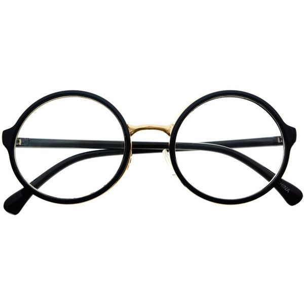 182852bd386 Clear Lens Retro Vintage Style Round Eyeglasses Frames R1001 freyrs ( 5) ❤  liked on Polyvore featuring accessories