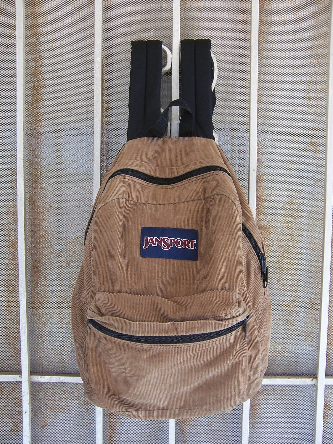 LIGHT BROWN CORDUROY JANSPORT BACKPACK on The Hunt  4b6c09365f5c2