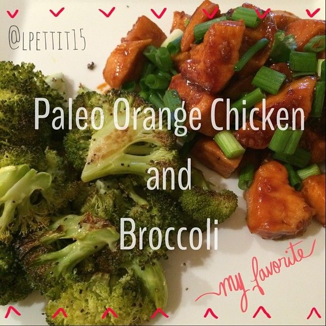 This delicious paleo orange chicken is a must try!! Follow my instagram @lpettit15 for more pictures like this to be inspired by! #paleo #orangechicken #food #foodie #healthy #broccoli #chinesefood