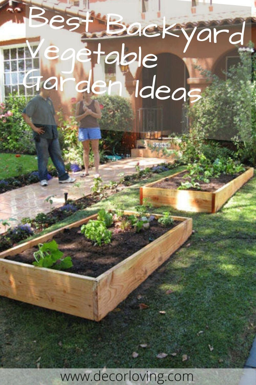 25 Amazing Garden Decor Ideas For Backyard Vegetable Garden In 2020 Vegetable Garden Design Backyard Vegetable Gardens Garden Decor