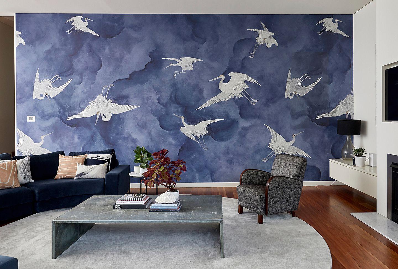 Installation Flight Phillip Jeffries In 2021 Modern Living Room Textured Walls Wall Trends