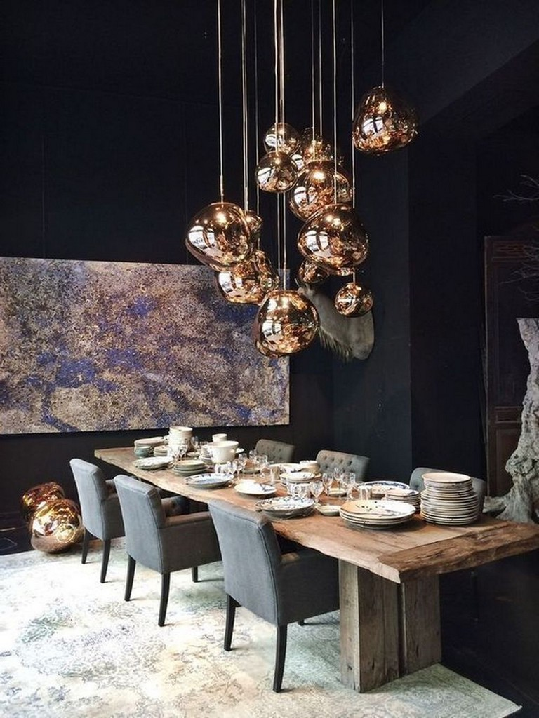 35 Astonishing Lighting Design Ideas For Dining Room Dining Room Design Dining Room Lighting Dining Table Lamps
