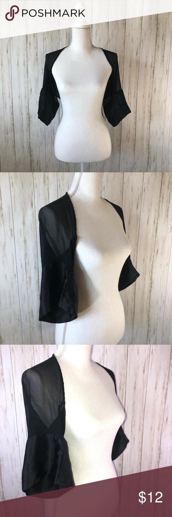 Cache Black Silk Bolero Clothes Design Fashion Design Scarf Accessory [ 1740 x 580 Pixel ]