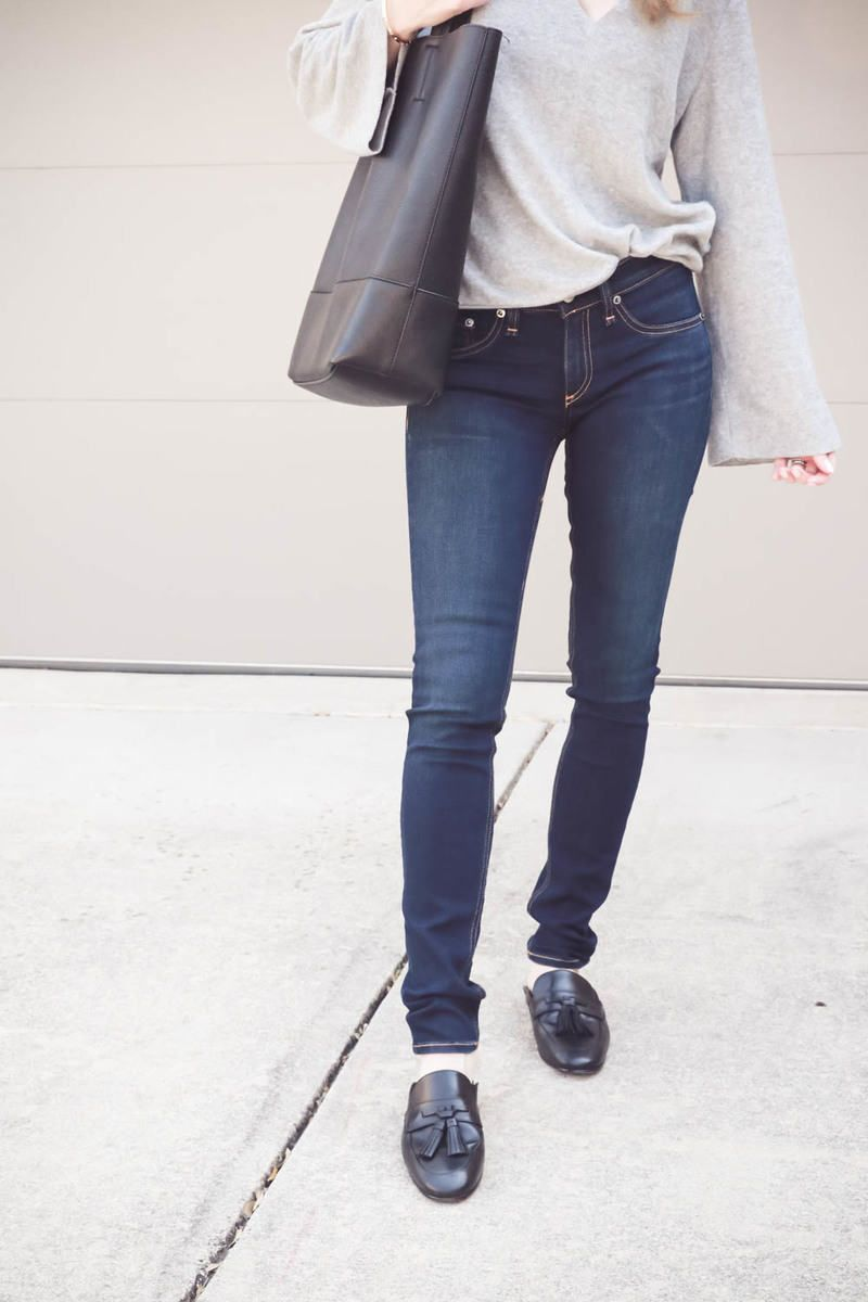 Erin Busbee of BusbeeStyle.com wearing Rag & Bone skinny jeans in bedford  from Nordstrom