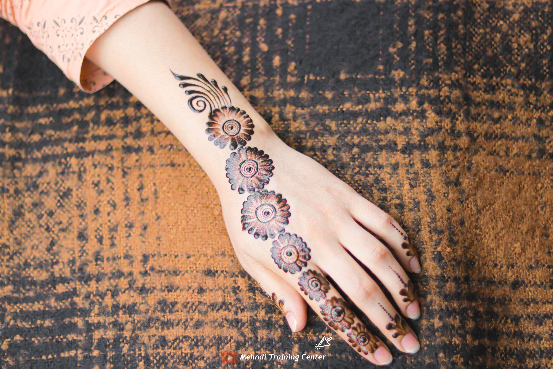 نقش الحناء الجميل البسيط أحدث تصميم نقش الحناء العربي للأيدي الخلفية 2020 Henna Hand Tattoo Mehndi Designs Hand Henna