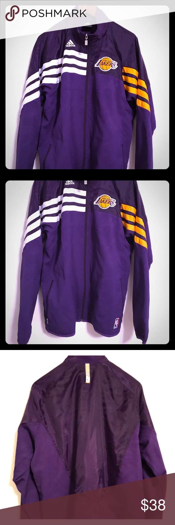 1327df718df Official NBA Lakers Warm-Up Jacket by Adidas A high quality sports jacket  perfect for basketball, and casual wear. It is a must have item for any  Laker fan ...