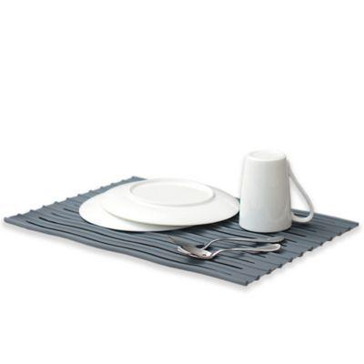 Ta Da Over The Sink Silicone Dish Drying Mat In Dark Grey Dish