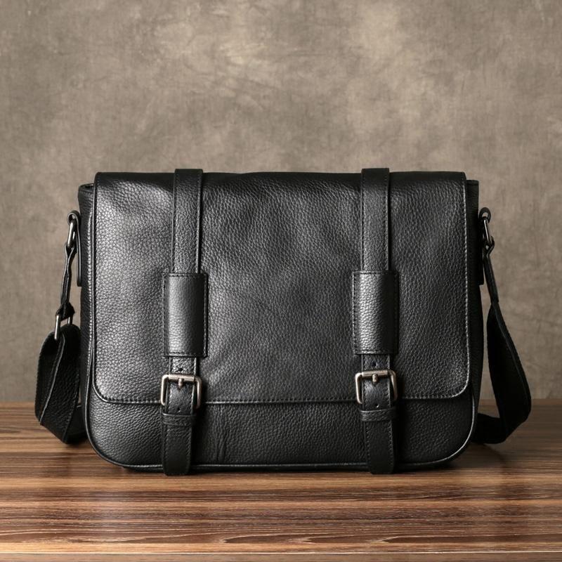 ac7623bd22ff Leather Messenger Bag, Mens Travel Briefcase, Leather Laptop Bag Men ...