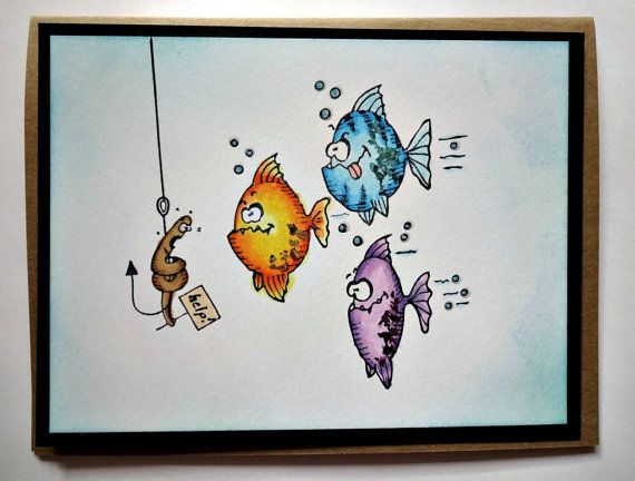 Unique Birthday Cards For Him ~ Funny card for men dad fisherman fishing card fathers day