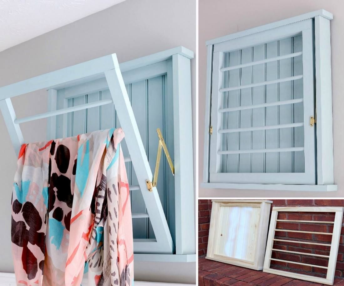 Wall Mounted Drying Racks For Laundry Room Diy Wall Mounted Drying Rack Free Plans  Laundry Rack Laundry And
