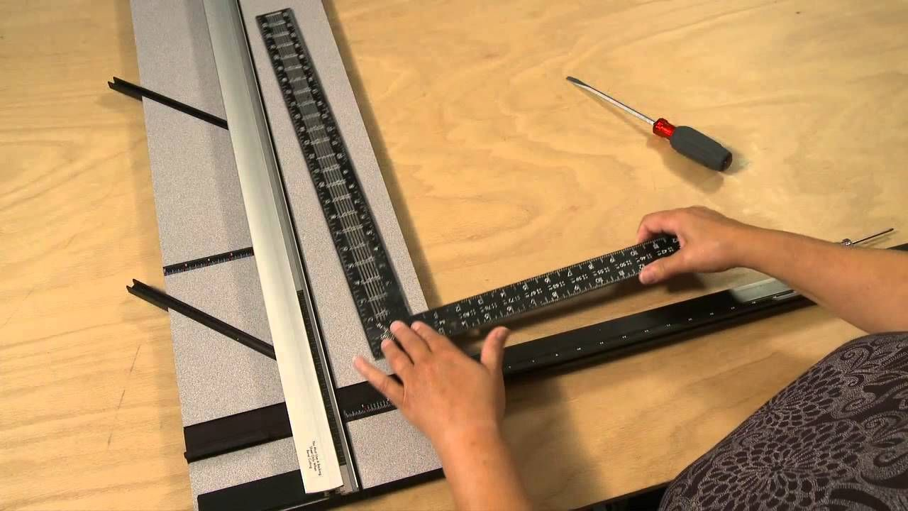 How To Re Square A Squaring Arm On A Logan Mat Cutter Framing Supplies Custom Framing Mats