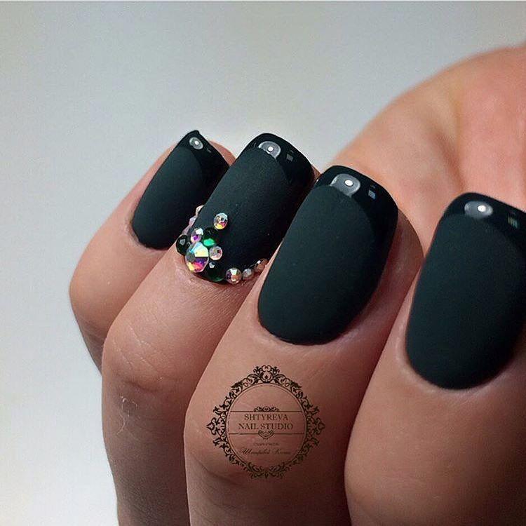 Beautiful nails 2017, Dark green french manicure, Dark green nails, Evening  nails, - Nail Art #2937 - Best Nail Art Designs Gallery Dark Green Nails