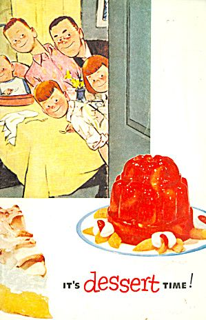 It's Dessert Time, 1953 Jello Cookbook. Click on the image for more information.