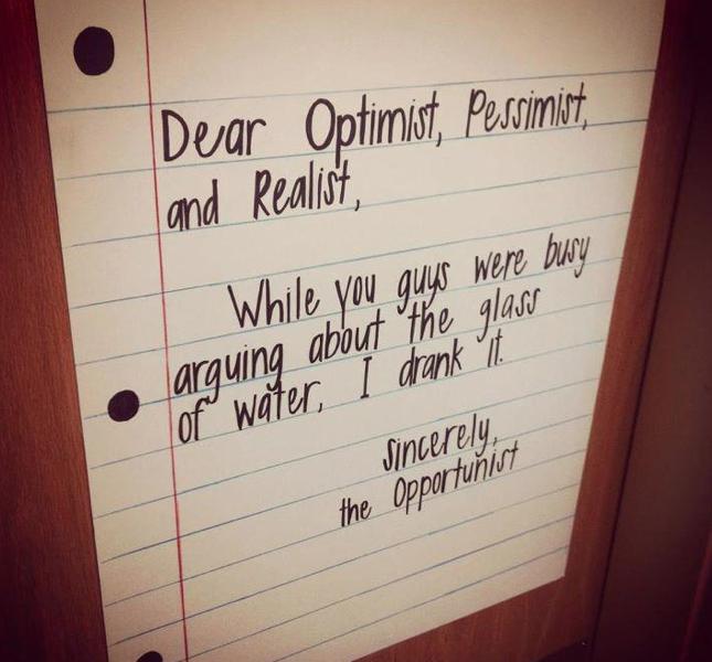Optimist Glass Half Full Meme