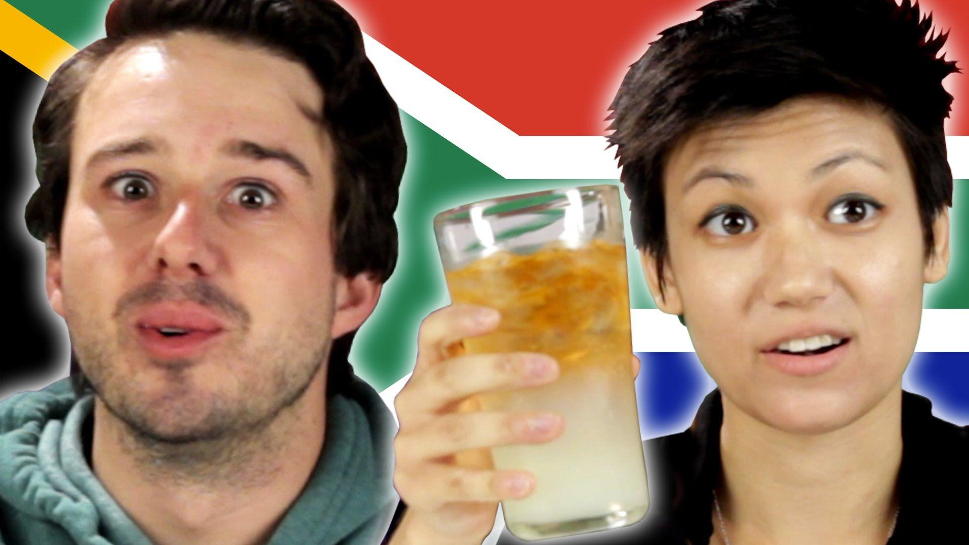 Norteamericanos prueban bocadillos sudafricanos por primera vez.