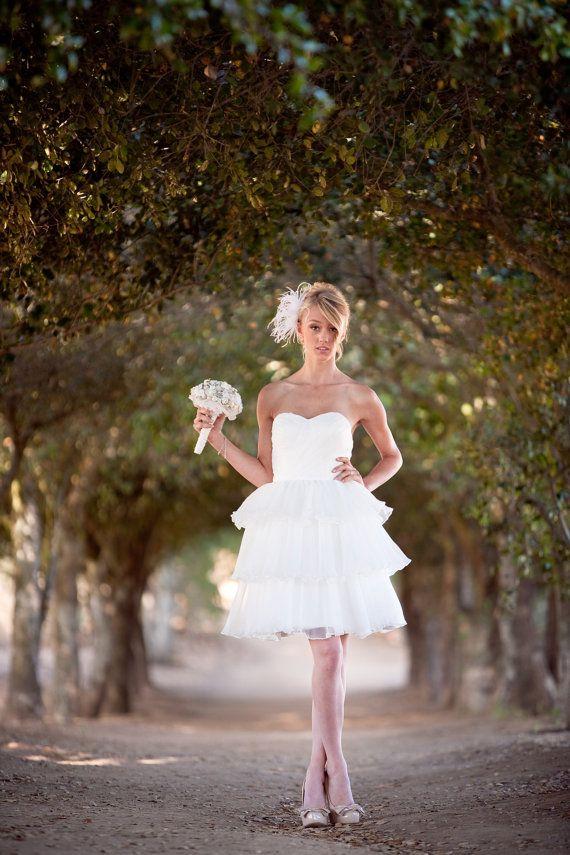 Alvina Knee Length Wedding Dress  reception by TheLittleWhiteDress, $528.00
