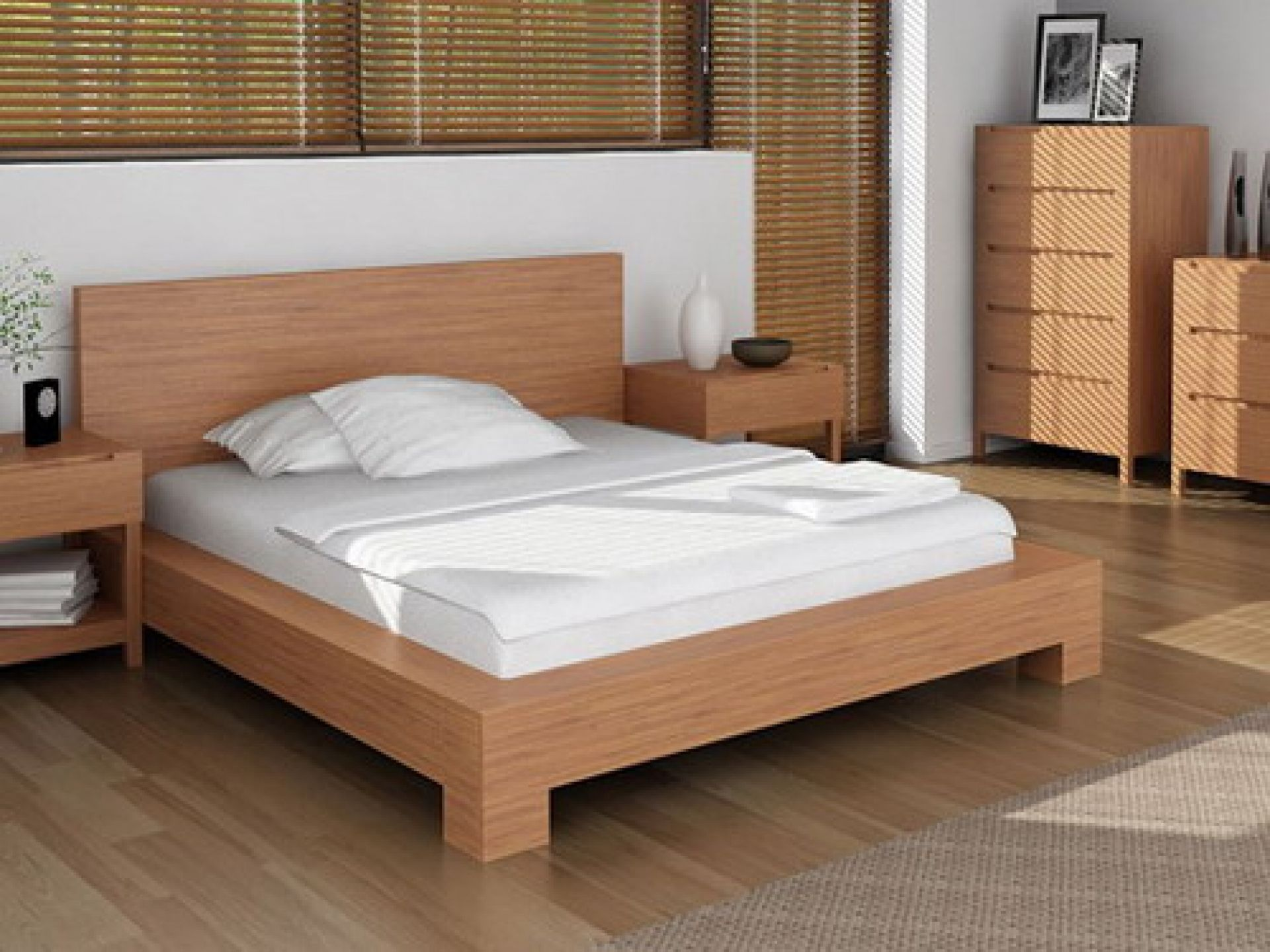 canvas of simple wood bed frame ideas - Wood Bed Frames Queen