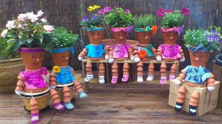 Photo of Shabby in love: How to make Clay Pot Flower People