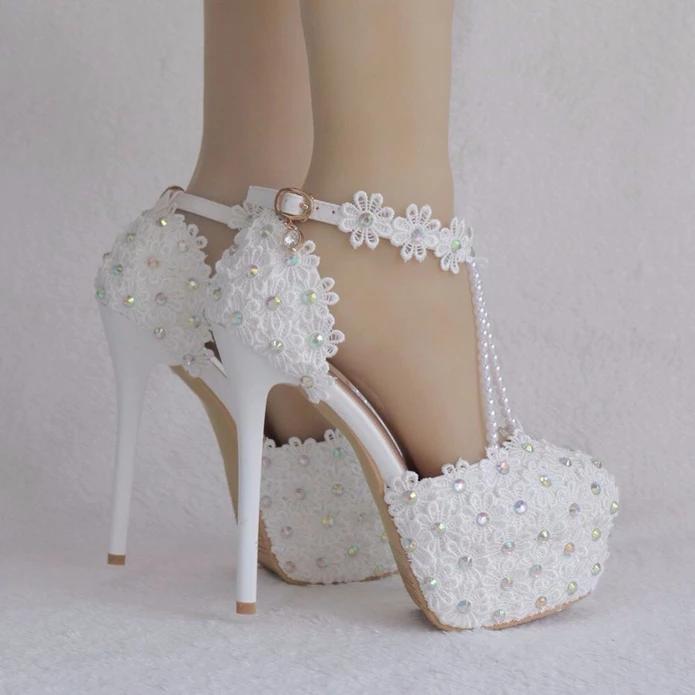 White Flowers Pearl Handmade Wedding Sandals Bridelily Wedding Sandals Wedding Shoes Heels Ivory Wedding Shoes