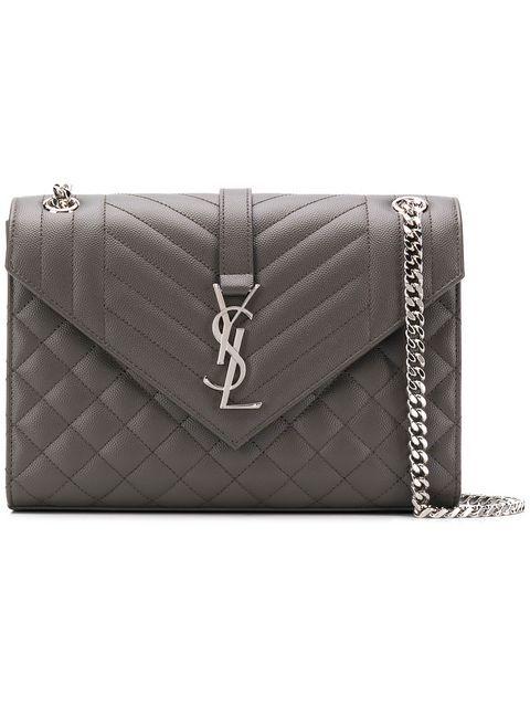 cbe0d80a545 Shop Saint Laurent Envelope medium shoulder bag | handbags ...