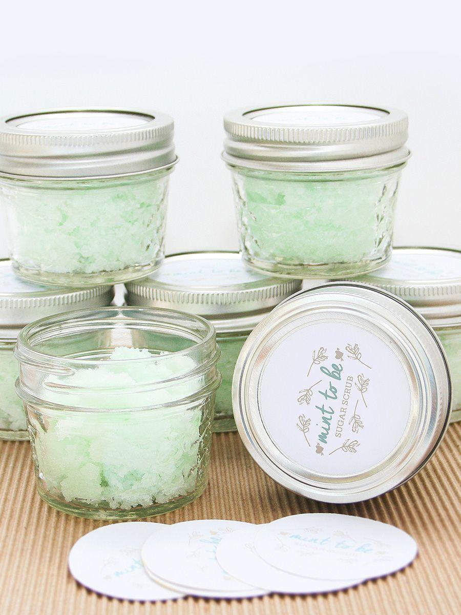 DIY bridal shower favor, mint to be sugar scrub | Beth\'s Bridal ...