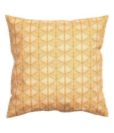 Kuviollinen tyynynpäällinen | Sinapinkeltainen | Home | H&M FI