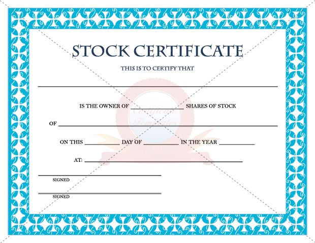 17 Best images about Certificate Template – Stock Share Certificate Template