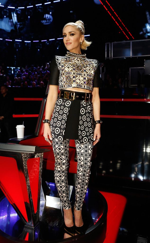 Textured Tribute from Gwen Stefani's The Voice Looks ...