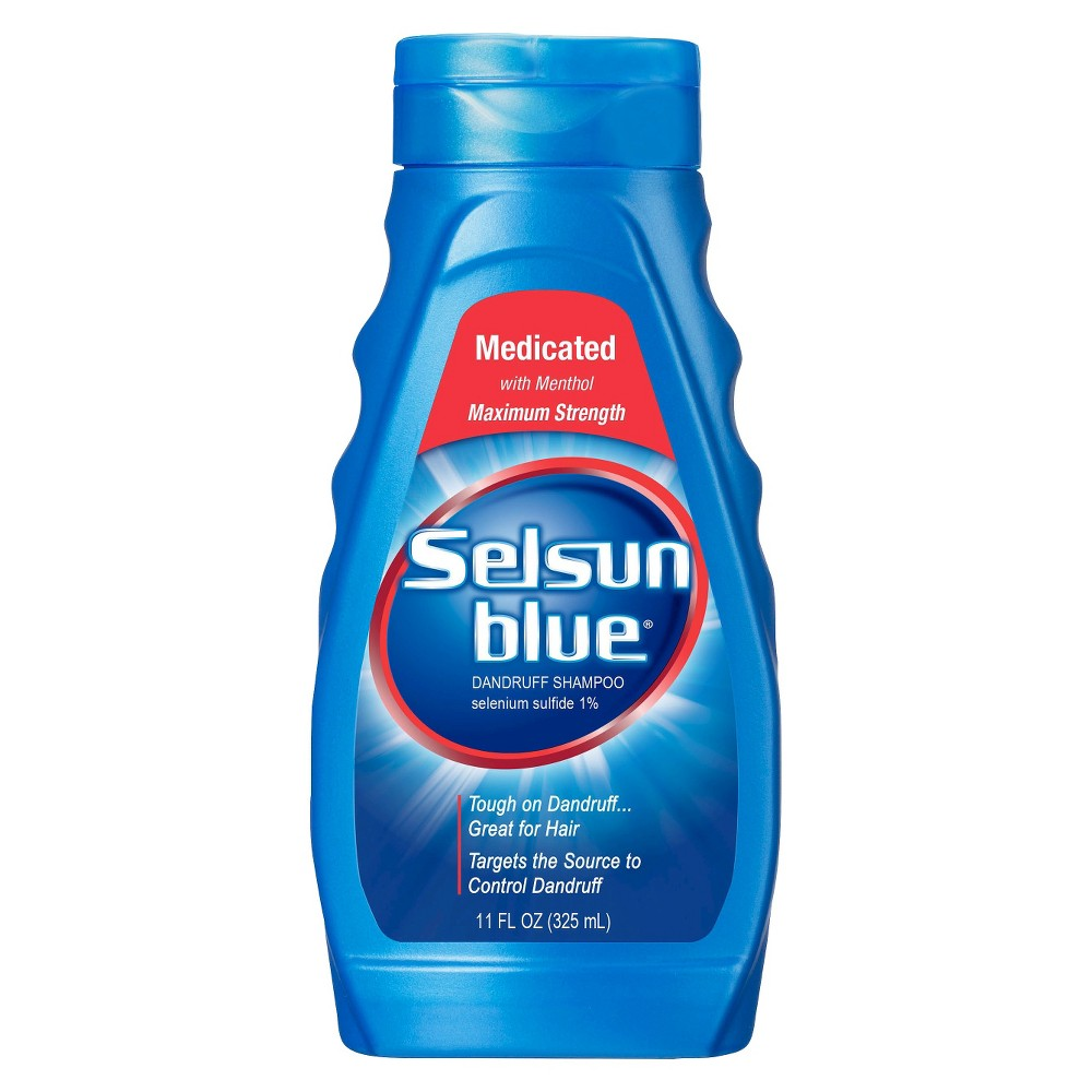 Selsun Blue Medicated With Menthol Dandruff Shampoo 11 Fl Oz Best Anti Dandruff Shampoo Anti Dandruff Shampoo Dandruff Shampoo
