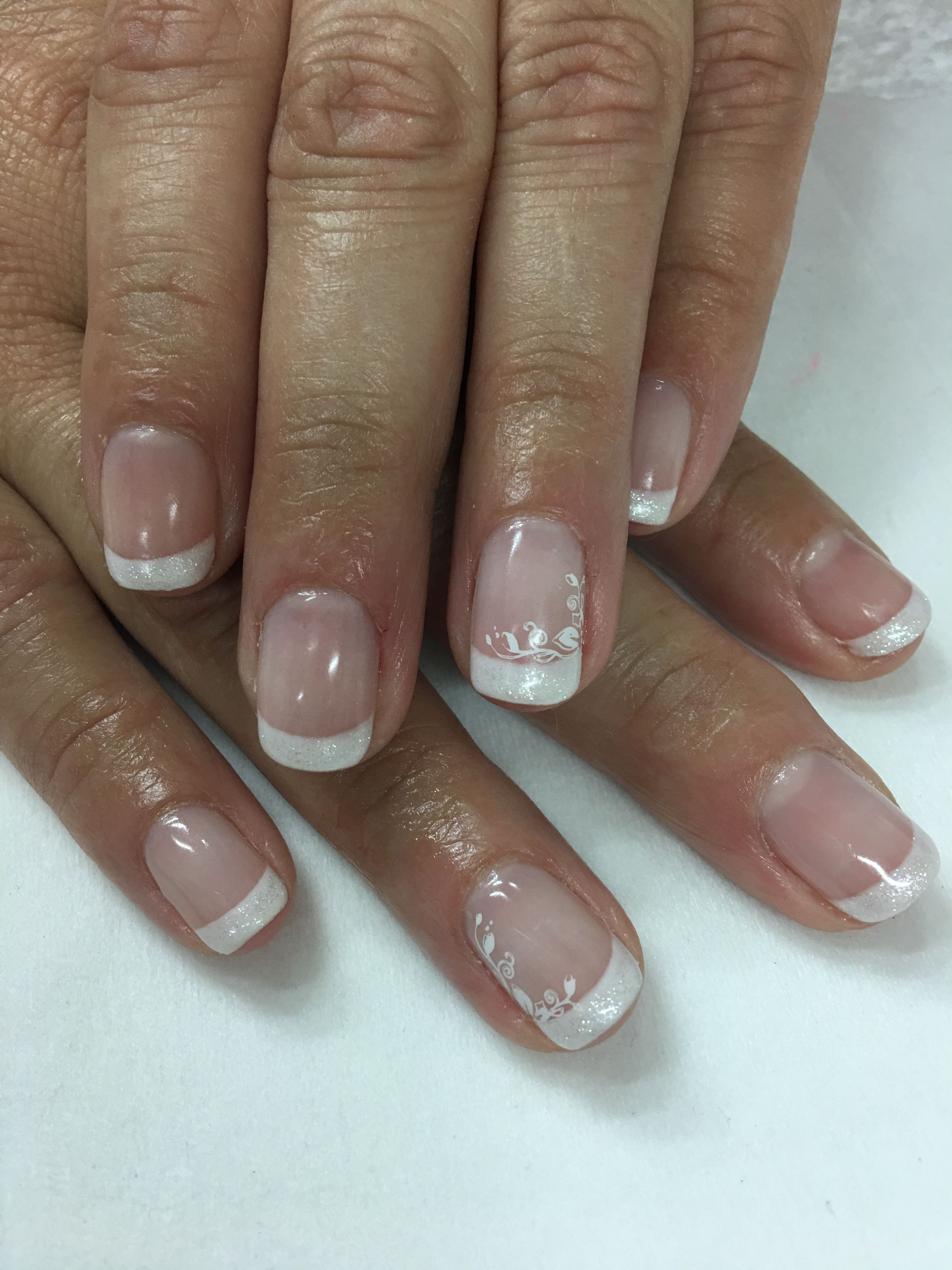 Simple clean white French Gel Nails | Gel Nail designs | Pinterest