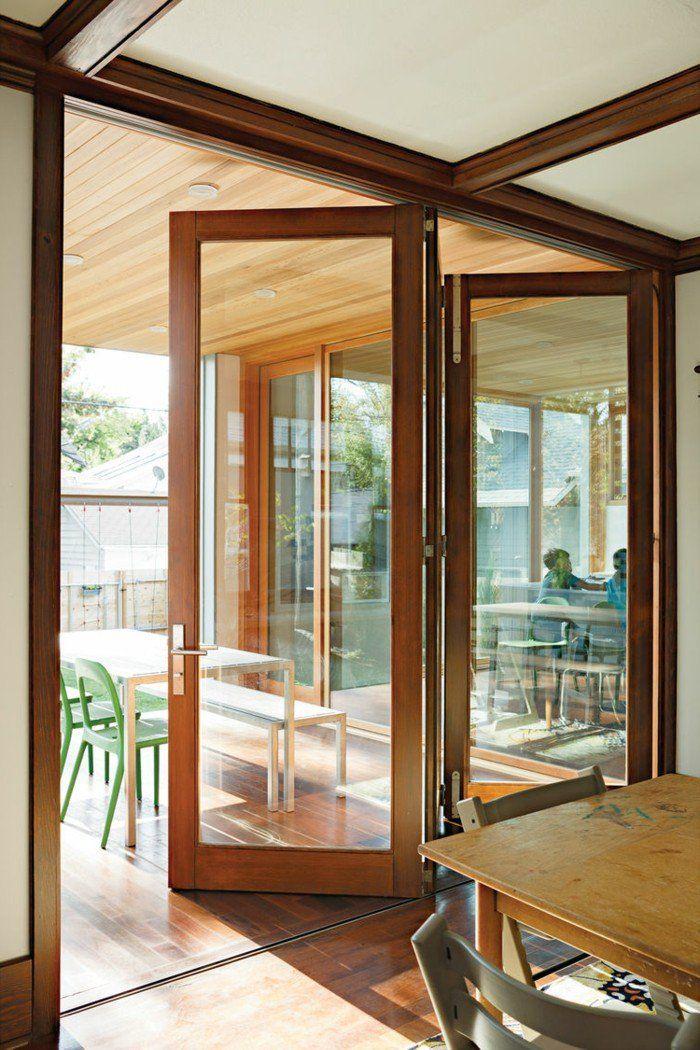 Les Portes Pliantes Design En 44 Photos Portes En Verre