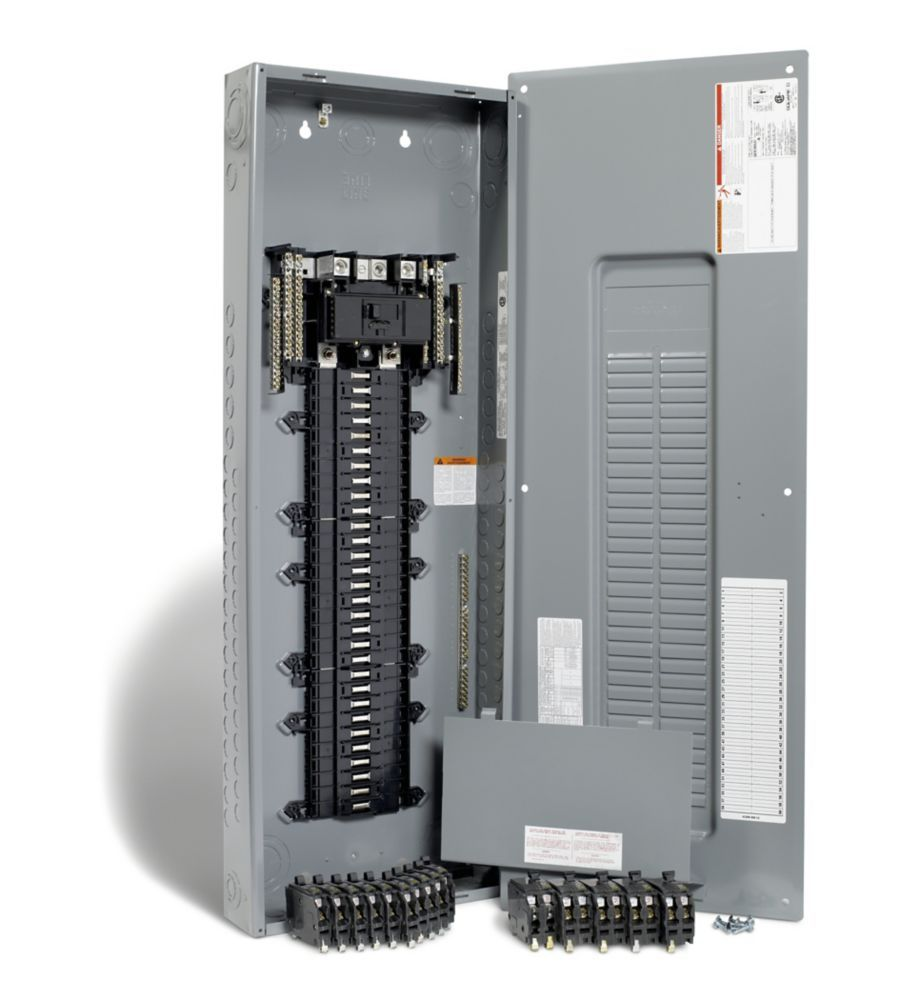 200 Amp 60 Spaces 80 Circuits Maximum Qwikpak Panel Package With Breakers Electric House Home Depot Locker Storage