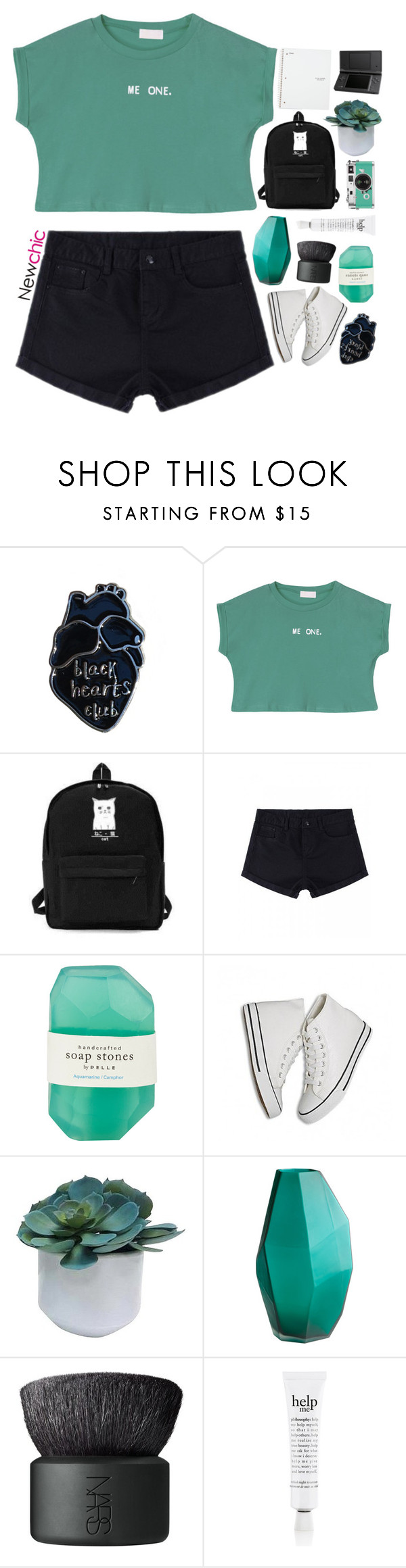 """""""NewChic 14"""" by blonde-scorpio-xo ❤ liked on Polyvore featuring Pelle, Threshold, NARS Cosmetics and philosophy"""