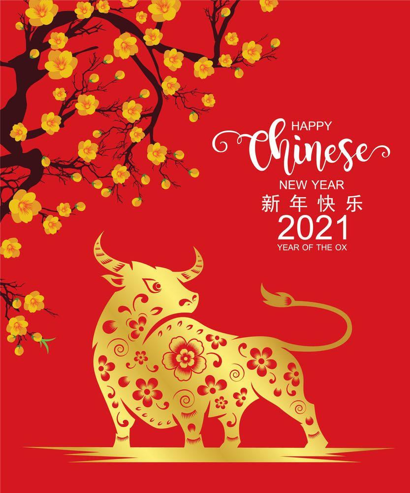 Year of OX 2021 Wallpaper | Chinese New Year 2021