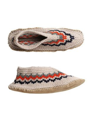 knitted fair isle slippers - Toast | SHOES BAGS ACCESSORIES ...